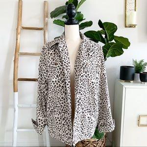 Vintage TanJay Leopard Denim Light Jacket